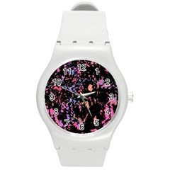 Put Some Colors    Round Plastic Sport Watch (m) by Valentinaart