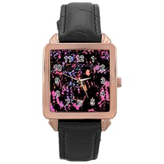 Put Some Colors    Rose Gold Leather Watch  by Valentinaart