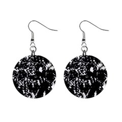Black And White Miracle Mini Button Earrings by Valentinaart
