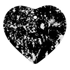 Black And White Miracle Heart Ornament (2 Sides) by Valentinaart