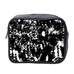 Black And White Miracle Mini Toiletries Bag 2 Side by Valentinaart