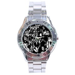 Black And White Miracle Stainless Steel Analogue Watch by Valentinaart