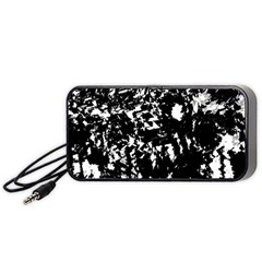 Black And White Miracle Portable Speaker (black)  by Valentinaart