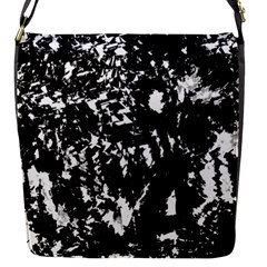 Black And White Miracle Flap Messenger Bag (s) by Valentinaart