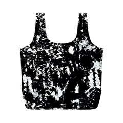 Black And White Miracle Full Print Recycle Bags (m)  by Valentinaart