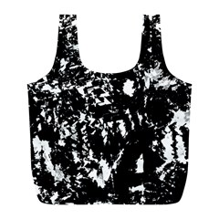 Black And White Miracle Full Print Recycle Bags (l)  by Valentinaart