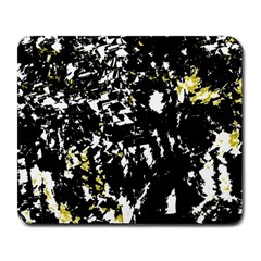 Little Bit Of Yellow Large Mousepads by Valentinaart