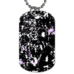 Little Bit Of Purple Dog Tag (one Side) by Valentinaart