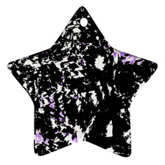 Little Bit Of Purple Star Ornament (two Sides)  by Valentinaart