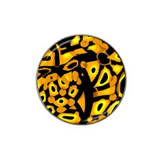 Yellow Design Hat Clip Ball Marker (4 Pack) by Valentinaart