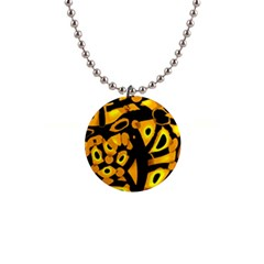 Yellow Design Button Necklaces by Valentinaart