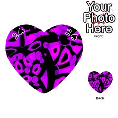 Purple Design Playing Cards 54 (heart)  by Valentinaart