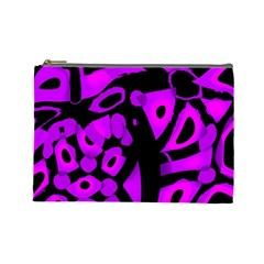 Purple Design Cosmetic Bag (large)  by Valentinaart