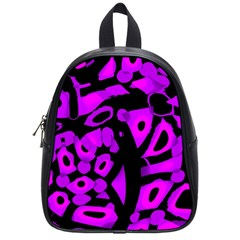 Purple Design School Bags (small)  by Valentinaart