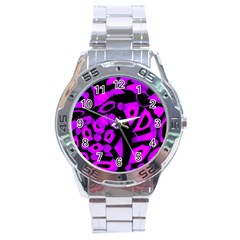 Purple Design Stainless Steel Analogue Watch by Valentinaart