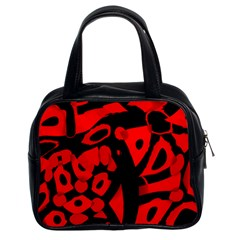 Red Design Classic Handbags (2 Sides)