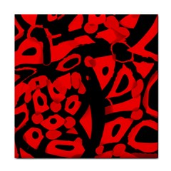 Red Design Face Towel by Valentinaart