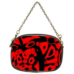 Red Design Chain Purses (two Sides)  by Valentinaart