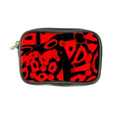 Red Design Coin Purse by Valentinaart