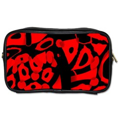 Red Design Toiletries Bags by Valentinaart