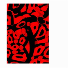 Red Design Large Garden Flag (two Sides) by Valentinaart