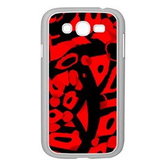 Red Design Samsung Galaxy Grand Duos I9082 Case (white) by Valentinaart