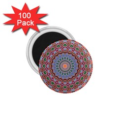Abstract Painting Mandala Salmon Blue Green 1 75  Magnets (100 Pack)  by EDDArt