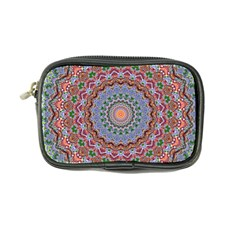 Abstract Painting Mandala Salmon Blue Green Coin Purse by EDDArt