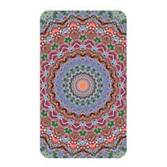 Abstract Painting Mandala Salmon Blue Green Memory Card Reader by EDDArt