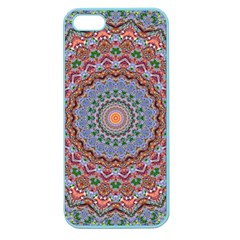 Abstract Painting Mandala Salmon Blue Green Apple Seamless Iphone 5 Case (color) by EDDArt