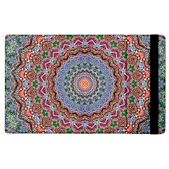 Abstract Painting Mandala Salmon Blue Green Apple Ipad 2 Flip Case by EDDArt