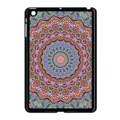 Abstract Painting Mandala Salmon Blue Green Apple Ipad Mini Case (black) by EDDArt