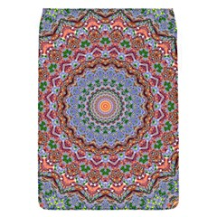 Abstract Painting Mandala Salmon Blue Green Flap Covers (s)  by EDDArt
