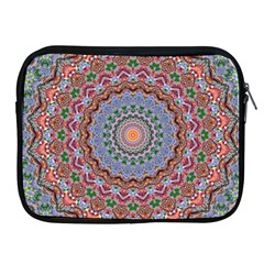 Abstract Painting Mandala Salmon Blue Green Apple Ipad 2/3/4 Zipper Cases by EDDArt