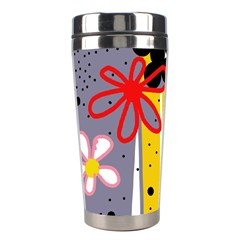 Flowers Stainless Steel Travel Tumblers