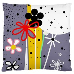 Flowers Large Flano Cushion Case (two Sides) by Valentinaart