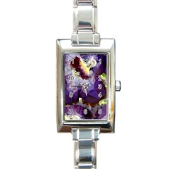 Purple Abstract Geometric Dream Rectangle Italian Charm Watch by DanaeStudio