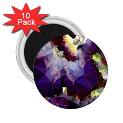 Purple Abstract Geometric Dream 2 25  Magnets (10 Pack)  by DanaeStudio