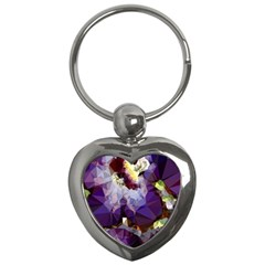 Purple Abstract Geometric Dream Key Chains (heart)  by DanaeStudio