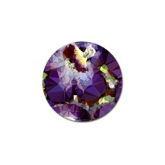 Purple Abstract Geometric Dream Golf Ball Marker (4 Pack) by DanaeStudio