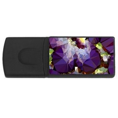Purple Abstract Geometric Dream Usb Flash Drive Rectangular (4 Gb)  by DanaeStudio