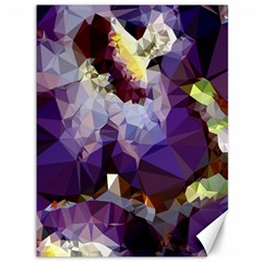 Purple Abstract Geometric Dream Canvas 36  X 48   by DanaeStudio