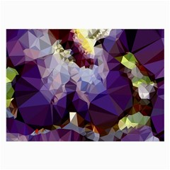 Purple Abstract Geometric Dream Large Glasses Cloth (2 Side) by DanaeStudio