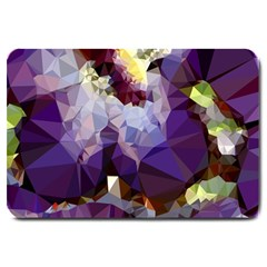 Purple Abstract Geometric Dream Large Doormat  by DanaeStudio
