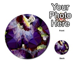 Purple Abstract Geometric Dream Multi Purpose Cards (round)  by DanaeStudio