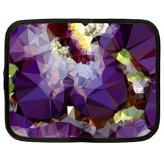 Purple Abstract Geometric Dream Netbook Case (large) by DanaeStudio