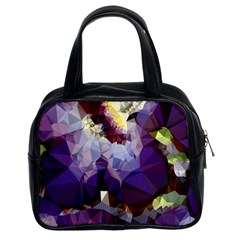 Purple Abstract Geometric Dream Classic Handbags (2 Sides) by DanaeStudio