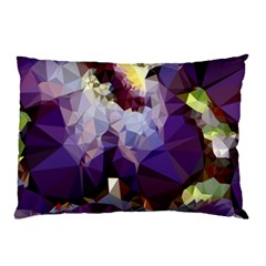 Purple Abstract Geometric Dream Pillow Case by DanaeStudio
