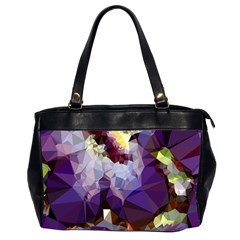 Purple Abstract Geometric Dream Office Handbags (2 Sides)  by DanaeStudio