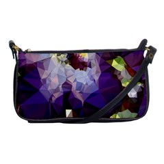 Purple Abstract Geometric Dream Shoulder Clutch Bags by DanaeStudio